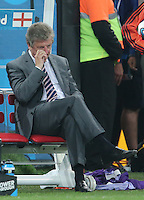 Dejected  England Manager Roy Hodgson