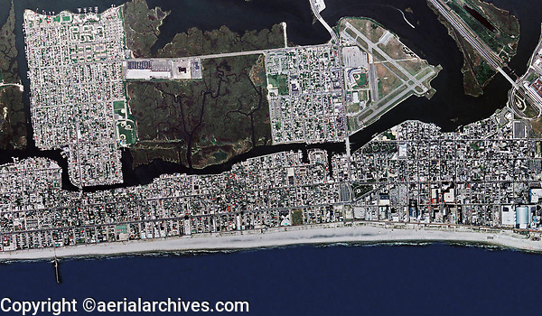 aerial photo map of Atlantic City, New Jersey