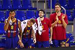 EUROLEAGUE 2020-2021. Playoffs.Game 1.<br /> FC Barcelona vs Zenit St. Petersburg: 74-76.<br /> Adam Hanga, Rolands Smits, Alex Abrines & Pau Gasol.
