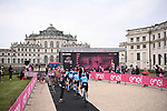 Eolo-Kometa Cycling Team head to sign on before the start of Stage 2 of the 2021 Giro d'Italia, running 179km from Stupinigi (Nichelino) to Novara, Italy. 9th May 2021.  <br /> Picture: LaPresse/Marco Alpozzi | Cyclefile<br /> <br /> All photos usage must carry mandatory copyright credit (© Cyclefile | LaPresse/Marco Alpozzi)