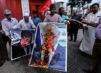Palestinians protest for the release of prisonner in israeli jails sept 19, 2019<br /> <br /> PHOTO : Agence Quebec Presse  - YOUSEF MASOUD