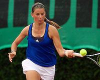 12-8-09, Den Bosch,Nationale Tennis Kampioenschappen, 1e ronde,    Querine Lemoine