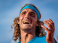 Paris, France, 2 june, 2019, Tennis, French Open, Roland Garros, Stefanos Tsitsipas (GRE) screams it out in frustration in his match against Wawrinka (SUI)<br /> Photo: Henk Koster/tennisimages.com