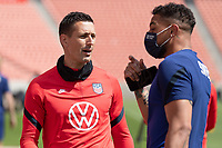 SANDY, UT - JUNE 8: Aron Hyde, Zack Steffen of the United States during a training session at Rio Tinto Stadium on June 8, 2021 in Sandy, Utah.