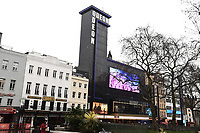 """Batman statue unveiled at the launch of """"Scenes in the Square"""" statue trail in Leicester Square, London.<br /> <br /> ©Ash Knotek  D3558 27/02/2020"""