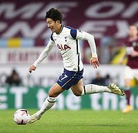 26th October 2020, Turf Moor, Burnley UK; EPL Premier League football, Burnley v Tottenham Hotspur; Tottenham Hotspur forward Son Heung-Min (7) runs thorugh on goal before scoring the winning goal