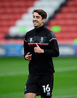 Lincoln City's Joe Walsh during the pre-match warm-up<br /> <br /> Photographer Chris Vaughan/CameraSport<br /> <br /> The EFL Sky Bet League One - Fleetwood Town v Lincoln City - Saturday 17th October 2020 - Highbury Stadium - Fleetwood<br /> <br /> World Copyright © 2020 CameraSport. All rights reserved. 43 Linden Ave. Countesthorpe. Leicester. England. LE8 5PG - Tel: +44 (0) 116 277 4147 - admin@camerasport.com - www.camerasport.com