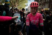 Simon Clarke (AUS/EF Education First) after finishing<br /> <br /> 105th Liège-Bastogne-Liège 2019 (1.UWT)<br /> One day race from Liège to Liège (256km)<br /> <br /> ©kramon