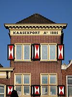 Nederland  Alkmaar- September 2020 .  Gevel met de tekst : Kaasexport A 1885. .. Foto : ANP/ Hollandse Hoogte / Berlinda van Dam
