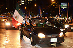 Mexicans celebrate the classification to the Soccer World Cup in Brazil 2014