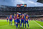 FC Barcelona's Luis Suarez, Leo Messi , Neymar Santos Jr , Gerard Pique, Jordi Alba, Ivan Rakitic   during spanish La Liga match between Futbol Club Barcelona and Real Madrid  at Camp Nou Stadium in Barcelona , Spain. Decembe r03, 2016. (ALTERPHOTOS/Rodrigo Jimenez)