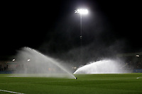 The pitch is watered during Arsenal Women vs Manchester City Women, FA Women's Continental League Cup Football at Meadow Park on 29th January 2020
