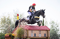 BEL-Lara de Liedekerke-Meier rides Ducati d'Arville during the Cross Country. 2021 SUI-FEI European Eventing Championships - Avenches. Switzerland. Saturday 25 September 2021. Copyright Photo: Libby Law Photography
