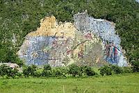 Mural de la Prehistoria fresco in the Vinales Valley, Cuba.