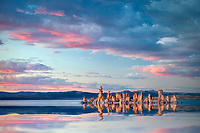 Tufa and sunset.  Mono Lake, California