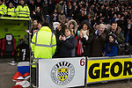 St Mirren 4 The New Saints 1, 19/02/2017. Paisley 2021 Stadium, Scottish Challenge Cup. Home team supporters applauding the teams at the Paisley2021 Stadium before Scottish Championship side St Mirren played Welsh champions The New Saints in the semi-final of the Scottish Challenge Cup for the right to meet Dundee United in the final. The competition was expanded for the 2016-17 season to include four clubs from Wales and Northern Ireland as well as Scottish Premier under-20 teams. Despite trailing at half-time, St Mirren won the match 4-1 watched by a crowd of 2044, including 75 away fans. Photo by Colin McPherson.