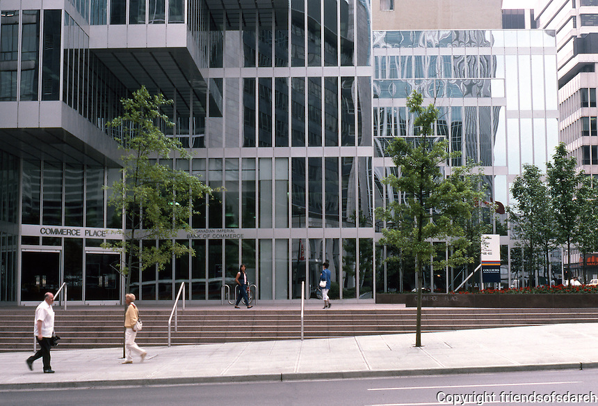 Vancouver: Commerce Plaza (Canadian Imperial Bank of Commerce) NE corner Burrard and W. Pender. Photo '86.