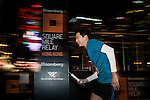 Runners in action during the Bloomberg Square Mile Relay along Edinburgh Place in the city's central district on 10 November 2016 in Hong Kong, China. Photo by Marcio Machado / Power Sport Images