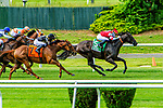 JUNE 06, 2020 : Instilled Regard with Irad Ortiz, Jr. aboard, wins the Grade 2 Fort Marcy, going 1 1/8 mile on the inner turf, at Belmont Park, Elmont, NY.  Sue Kawczynski/Eclipse Sportswire/CSM