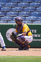 East Carolina Pirates catcher Seth Caddell (9) during a game against the Memphis Tigers on May 25, 2021 at BayCare Ballpark in Clearwater, Florida.  (Mike Janes/Four Seam Images)