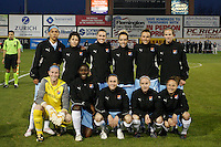 Sky Blue FC starting eleven. Sky Blue FC and FC Gold Pride played to a 1-1 tie during a Women's Professional Soccer match at TD Bank Ballpark in Bridgewater, NJ, on April 11, 2009. Photo by Howard C. Smith/isiphotos.com