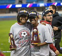Stanford, CA - December 8, 2019: Madison Haley, Kiki Pickett, Nick Sako at Avaya Stadium. The Stanford Cardinal won their 3rd National Championship, defeating the UNC Tar Heels 5-4 in PKs after the teams drew at 0-0.