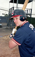 Cleveland Indians Kelly Stinnett during Spring Training 1993 at Chain of Lakes Park in Winter Haven, Florida.  (MJA/Four Seam Images)