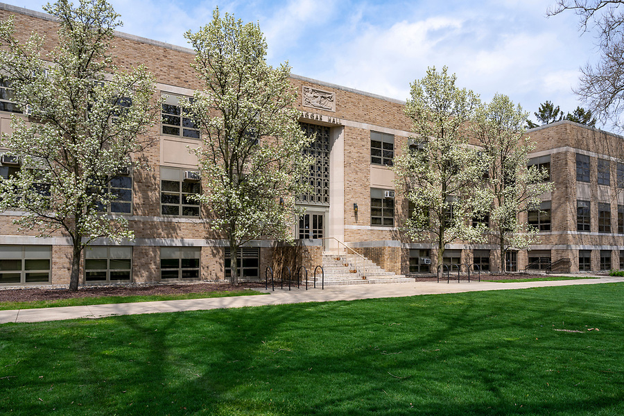 April 28, 2020; Hagger Hall  (Photo by Barbara Johnston/University of Notre Dame)