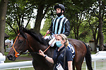 August 15, 2021, Deauville (France) - Chidit (8) with Pat Dobbs abroad after the Prix du Haras de Fresnay-Le-Buffard Jaques Le Marois (Gr I) at Deauville-La Touques Racecourse on August 15 in Deauville. [Copyright (c) Sandra Scherning/Eclipse Sportswire)]