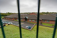 Pictured: St John Lloyd School, in Llanelli, Carmarthenshire, UK. Thursday 12 September 2019<br /> Re: The family of a bullied pupil were joined by friends and held a minute's silence, a year after he hanged himself in school toilets.<br /> His heartbroken father Byron John claims his son Bradley, 14, would still be alive if the school had acted to stop the bullies.<br /> Bradley's 13-year-old sister Danielle found him dead in the toilet block at, an hour after going missing at St John Lloyd Roman Catholic School in Llanelli, South Wales, UK.