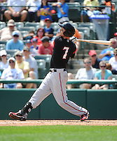 Richmond Flying Squirrels outfielder Ryan Lollis (7) during game against the Trenton Thunder at ARM & HAMMER Park on June 9 2013 in Trenton, NJ.  Trenton defeated Richmond 3-2.  Tomasso DeRosa/Four Seam Images