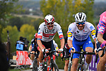 Alexander Kristoff (NOR) UAE Team Emirates feels the pain as he climbs the final ascent of the Paterberg during the Tour of Flanders 2020 running 244km from Antwerp to Oudenaarde, Belgium. 18th October 2020.  <br /> Picture: Serge Waldbillig   Cyclefile<br /> <br /> All photos usage must carry mandatory copyright credit (© Cyclefile   Serge Waldbillig)