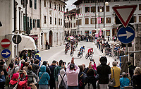 breakaway group crossing the town of Cormons<br /> <br /> 104th Giro d'Italia 2021 (2.UWT)<br /> Stage 15 from Grado to Gorizia (147km)<br /> <br /> ©kramon