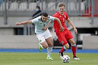 6th June 2021, Stade Josy Barthel, Luxemburg; International football friendly Luxemburg versus Scotland; John McGinn Scotland takes on Enes Mahmutovic Luxembourg