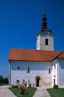 Slowenien, Kostanjevica, Kirche Sv Janez.