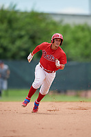 GCL Phillies West Andrick Nava (10) running the bases during a Gulf Coast League game against the GCL Tigers West on July 27, 2019 at the Carpenter Complex in Clearwater, Florida.  (Mike Janes/Four Seam Images)