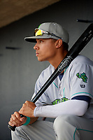 Lynchburg Hillcats Tre Gantt (8) before the second game of a doubleheader against the Frederick Keys on June 12, 2018 at Nymeo Field at Harry Grove Stadium in Frederick, Maryland.  Frederick defeated Lynchburg 8-1.  (Mike Janes/Four Seam Images)