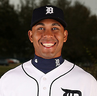 February 27, 2010:  Outfielder Wilkin Ramirez (60) of the Detroit Tigers poses for a photo during media day at Joker Marchant Stadium in Lakeland, FL.  Photo By Mike Janes/Four Seam Images
