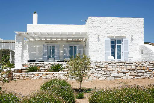 facafe of traditional cycladic house
