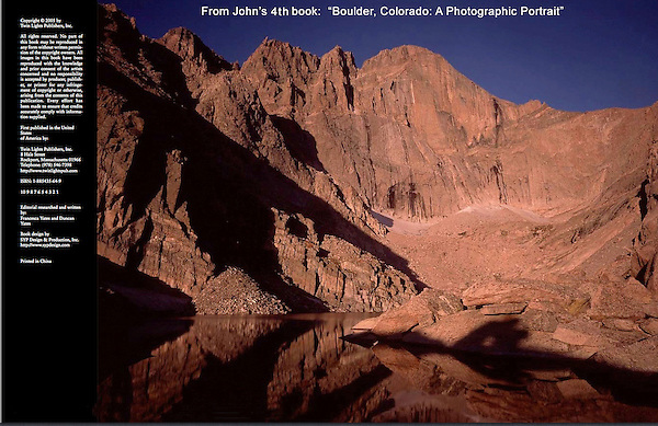 """Guided photo tours of Rocky Mountain National Park by John.<br /> From John's 4th book: """"Boulder, Colorado: A Photographic Portrait"""""""