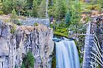 View of the top ofTumalo Falls, on Tumalo Creek, near Bend, Oregon.