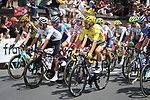 The start of Stage 11 of the 2019 Tour de France running 167km from Albi to Toulouse, France. 17th July 2019.<br /> Picture: ASO/Olivier Chabe   Cyclefile<br /> All photos usage must carry mandatory copyright credit (© Cyclefile   ASO/Olivier Chabe)