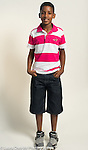 Portrait of 11 year old boy standing full length