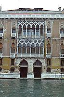 Venice:  Palazzo Pisani-Moretta, 15th century Gothic.  Photo '83.