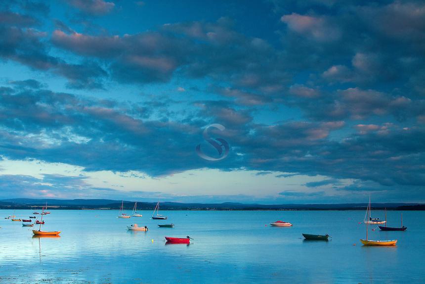 Findhorn Bay at dusk, Moray