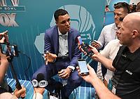 MIAMI BEACH, FL - JANUARY 28: Tony Gonzalez attends the Fox Sports Media Day during Super Bowl LIV week on January 28, 2020 in Miami Beach, Florida. (Photo by Frank Micelotta/Fox Sports/PictureGroup)