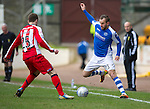 St Johnstone v Kilmarnock.....09.03.13      SPL.Rowan Vine and Jude Winchester.Picture by Graeme Hart..Copyright Perthshire Picture Agency.Tel: 01738 623350  Mobile: 07990 594431