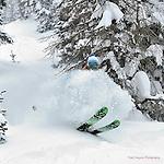 Wolf Creek Ski Instructor Steve Baird ripping up deep December powder