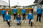 Mercy Mounthawk students who are competing in the BT Young Scientist and Technology Exhibition.  Kneeling l to r:  Adam Dineen (Online Offline), Al Katie Prendiville ( Learning cube play activity advice for children) and Michael Guerin (Online Offline). Back l to r:  Rachel Fealy (Impact of Covid Pandemic), Darragh Newsome (Specs), David Hughes (Specs) and Conor Bradshaw (Specs).