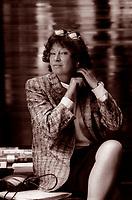 Inge Feltrinelli, nata Schönthal, è stata un'editrice, fotografa, e giornalista tedesca, naturalizzata italiana. E' stata la regina dell'editoria italiana. Milano, 12 maggio 1988. Photo by Leonardo Cendamo